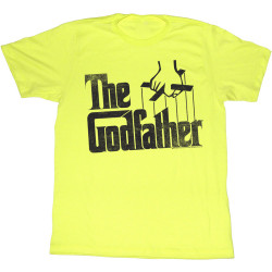 Image for Godfather T-Shirt - Yellow Logo