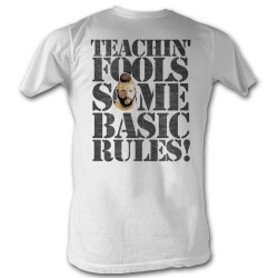 Image for Mr. T T-Shirt - Rules for Fools