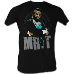 Image for Mr. T T-Shirt - Mr. T Black and Blue
