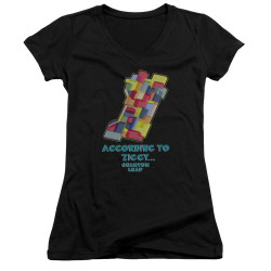 Image for Quantum Leap Girls V Neck T-Shirt - According to Ziggy