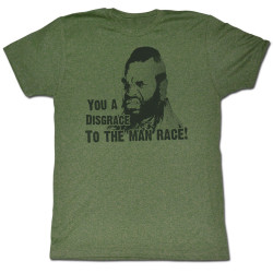 Image for Mr. T T-Shirt - You a Disgrace to the Man Race