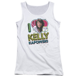 Image for Saved by the Bell Girls Tank Top - I Love Kelly Kapowski