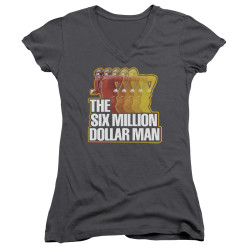 Image for The Six Million Dollar Man Girls V Neck T-Shirt - Run Fast