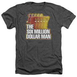 Image for The Six Million Dollar Man Heather T-Shirt - Run Fast