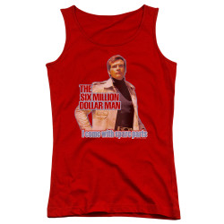Image for The Six Million Dollar Man Girls Tank Top - Spare Parts