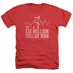 Image for The Six Million Dollar Man Heather T-Shirt - Target