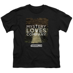 Image for Warehouse 13 Youth T-Shirt - Mystery Loves