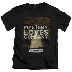 Image for Warehouse 13 Kids T-Shirt - Mystery Loves