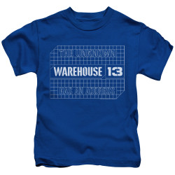 Image for Warehouse 13 Kids T-Shirt - Blueprint Logo