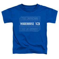 Image for Warehouse 13 Toddler T-Shirt - Blueprint Logo