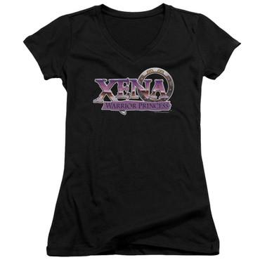 Image for Xena Warrior Princess Girls V Neck T-Shirt - Logo