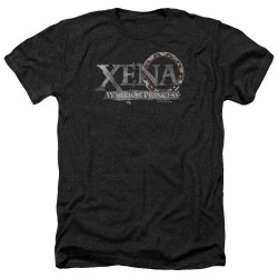 Image for Xena Warrior Princess Heather T-Shirt - Battered Logo