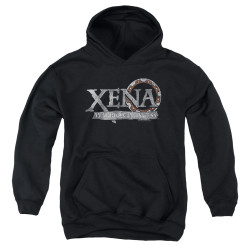 Image for Xena Warrior Princess Youth Hoodie - Battered Logo