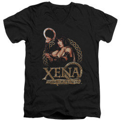 Image for Xena Warrior Princess T-Shirt - V Neck - Royalty