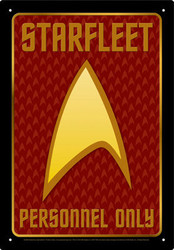 Image for Star Trek Tin Sign - Starfleet Personnel Only