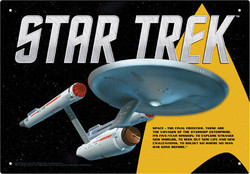 Image for Star Trek Tin Sign - Space the Final Frontier