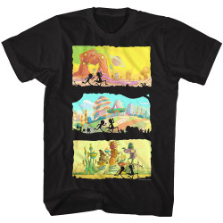 Image for Rick and Morty T-Shirt - Running Silhouettes