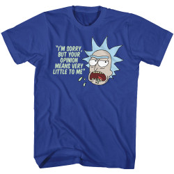 Image for Rick and Morty T-Shirt - Your Opinion Means Very Little