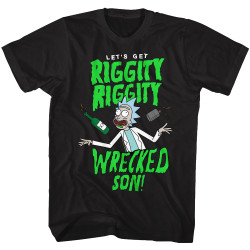 Image for Rick and Morty T-Shirt - Riggity Riggity Wrecked