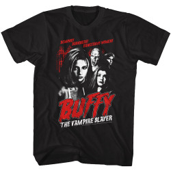 Image for Buffy the Vampire Slayer T-Shirt - Vintage Horror Poster