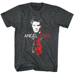 Image for Buffy the Vampire Slayer T-Shirt - Face to Face Angel/Spike
