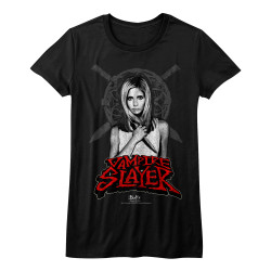 Image for Buffy the Vampire Slayer Names Girls T-Shirt