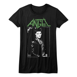 Image for Buffy the Vampire Slayer Angel Frame Name Girls T-Shirt
