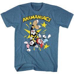 Image for Animaniacs T-Shirt - Holding Hands Group With Logo