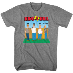 Image for King of the Hill T-Shirt - All Four Drinking with Logo