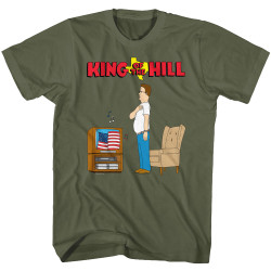 Image for King of the Hill T-Shirt - Hang Star Spangled Banner
