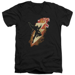 Image for Shazam Movie V Neck T-Shirt - Tiger Bolt