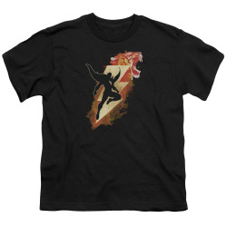 Image for Shazam Movie Youth T-Shirt - Tiger Bolt