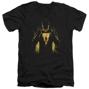 Image for Shazam Movie V Neck T-Shirt - What's Inside