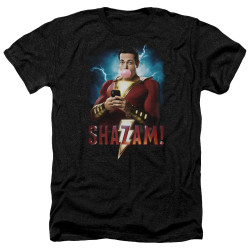 Image for Shazam Movie Heather T-Shirt - Blowing Up
