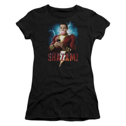 Image for Shazam Movie Girls T-Shirt - Blowing Up