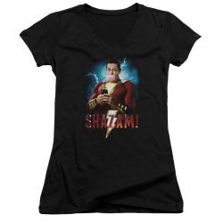 Image for Shazam Movie Girls V Neck - Blowing Up