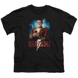 Image for Shazam Movie Youth T-Shirt - Blowing Up
