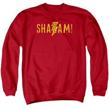 Image for Shazam Movie Crewneck - Flat Logo