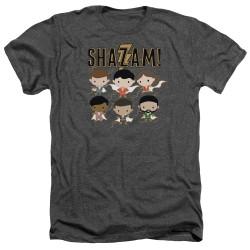 Image for Shazam Movie Heather T-Shirt - Chibi Group