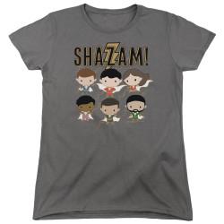Image for Shazam Movie Womans T-Shirt - Chibi Group