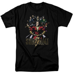 Image for Shazam Movie T-Shirt - Group of Heroes
