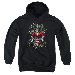 Image for Shazam Movie Youth Hoodie - Group of Heroes