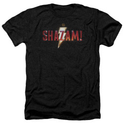 Image for Shazam Movie Heather T-Shirt - Logo