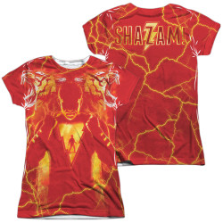 Image for Shazam Movie Girls T-Shirt - Sublimated What's Inside