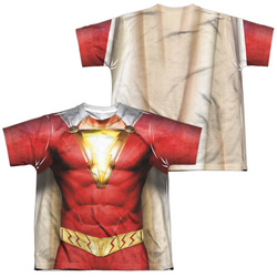 Image for Shazam Movie Sublimated Youth T-Shirt - Uniform