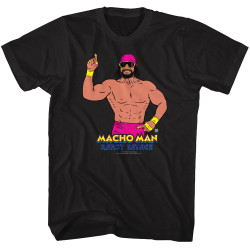 Image for WWE T-Shirt - Macho Man Randy Savage Finger in the Air