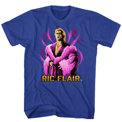 Image for WWE T-Shirt - Rick Flair Purple Robe Vector