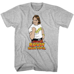 Image for WWE T-Shirt - Rowdy Roddy Piper Vector