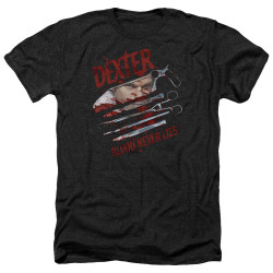 Image for Dexter Heather T-Shirt - Blood Never Lies