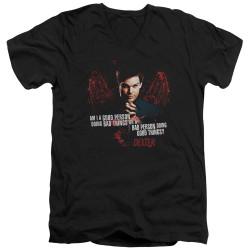 Image for Dexter T-Shirt - V Neck - Good Bad